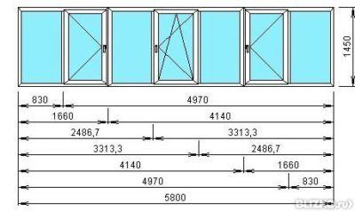 Балконная раздвижная (купе) алюминиевая рама 3 метра от комп.