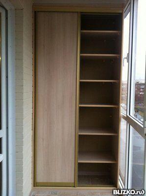 Шкаф-купе для балкона от компании омский мебельщик купить в .