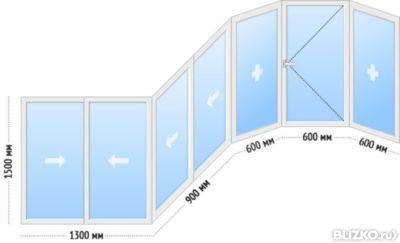 Балкон раздвижной 4х1,5 м из алюминиевого профиля от компани.