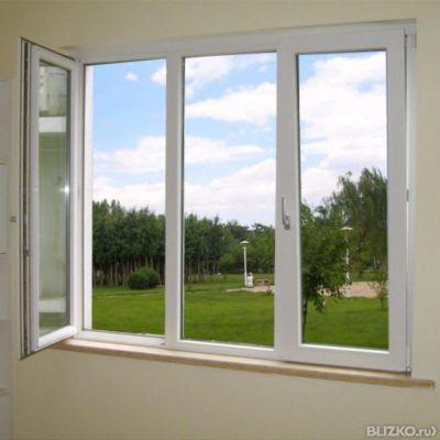 Пластиковое окно exprof 70, 5-и кам, 3-х ст. пов./глух/пов-о.