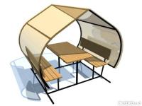 Как сделать шатер из профтрубы 4