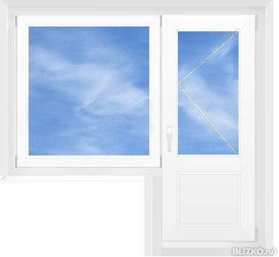 Балконный блок krauss ( 58 мм ) 1240*2130 мм в краснодаре - .