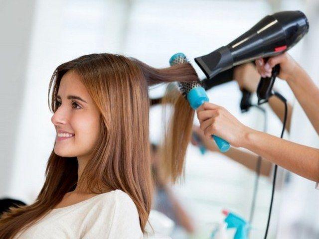 Укладка феном на средние волосы фото